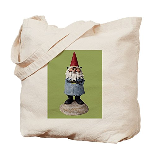 7b0b56c2a9f0 CafePress - Hipster Garden Gnome With Eyeglasses Nerd Kitsch T - Natural  Canvas Tote Bag, Cloth Shopping Bag