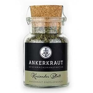 Ankerkraut Koriander Blatt, gerebelt, 25g im Korkenglas