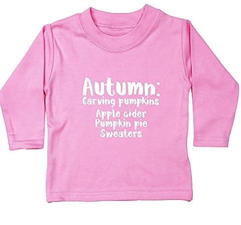 Hippowarehouse Autumn Meaning: Carving pumpkins apple cider pumpkin pie sweaters baby unisex t-shirt long