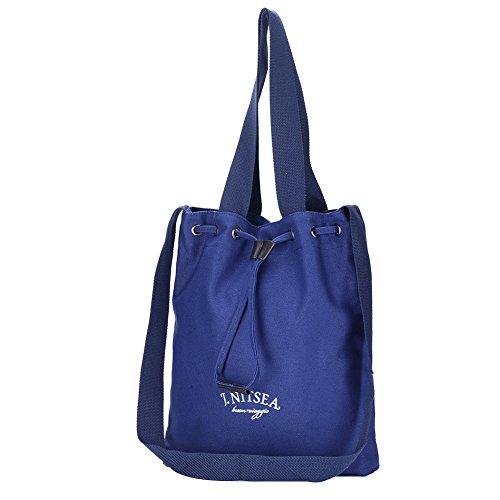 WTUS Damen Neu Art und Weise Handtaschen -Koreanische Frauen-Schultertasche Messenger Bag Beuteltote Blau