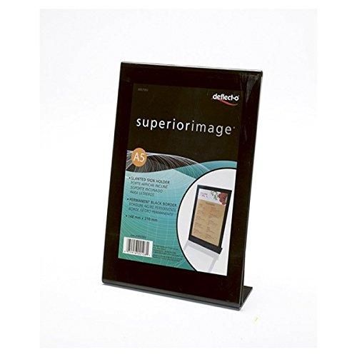 Umlenken-o-Superior-Bild A5 Portrait Black Frame Schildhalter (Packung mit 6 x Sgl)