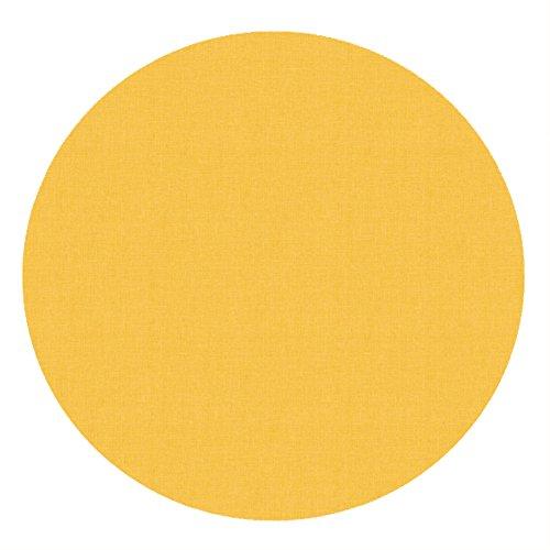 eterware Tischdecke 100% Baumwolle RUND OVAL Größe & Farbe wählbar Gelb 150 cm Rund abwaschbare Tischdecke ()
