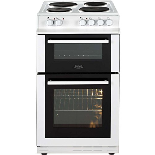 Belling FS50EFDO A Rated 50cm Double Oven Electric Cooker with 4 Burners in White