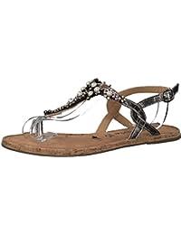 Tamaris 1-1-28099-20 Damen Sandale, Sandalette, Sommerschuhe Für Die Modebewusste Frau Metallic (Silver), EU 40