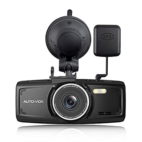 Dash Cam With GPS AUTO VOX D1 Dashboard Camera Full HD 1080P 2.7-Inch Car Recorder DVR with Night Vision G-Sensor Loop Recording Parking Mode Free 32G Mirco