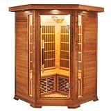 Sauna infrarrojo de esquina apollon 2-3 places LUXE_2C