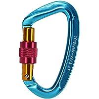Beito 1 mosquetón de acero para montañismo, escalada, 24 K, color azul