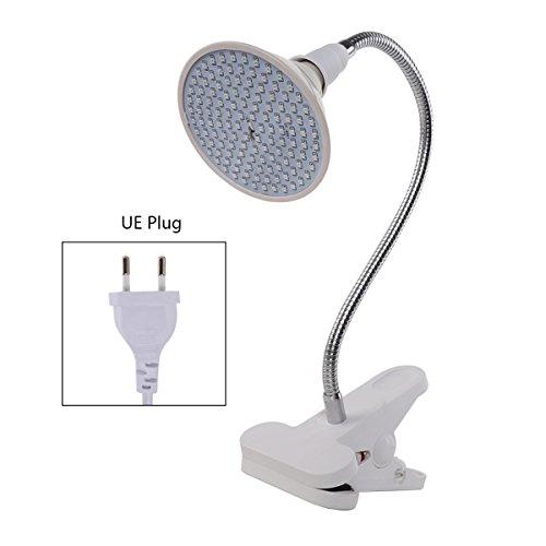 Freebily Pflanzenlampe E27 6W/15W/20W LED Pflanzenlampen Glühbirne Wachstumslampe mit 360 ° Flexibler Schwanenhals für Zimmerpflanzen, Blumen und Gemüse im Büro Haus Garten EU Plug 15W