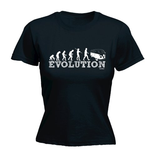 LADIES-EVOLUTION-CAMPER-NEW-PREMIUM-FITTED-T-SHIRT-VARIOUS-COLOURS-S-M-L-XL-2XL-by-123t
