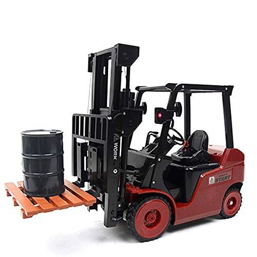 RC Auto kaufen Baufahrzeug Bild 6: Wokee 2,4 GHz RC Fernbedienung LKW Gabelstapler 1:14 Spielzeug Kinder,60 x 14,5 x 29 cm,Heavy Metal Modellbau Forklift*