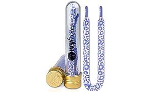 Ivybands®, Ivylaces®, lacci da scarpe di alta qualità viola Purple Leopard 120cm
