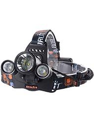 XCSOURCE® 6000LM 3x Cree XM-L T6 LED Lampe Frontale Ultra Puissant Phare Vélo Avec Chargeur 2X 18650 Batterie Lithium Rechargeable LD375