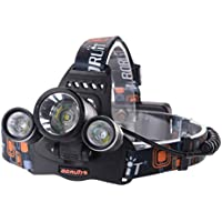 6000LM 3x CREE XM-L T6 LED Frontale Luce faro lampada