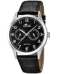 Lotus 15956/d - Reloj de pulsera hombre, Cuero, color Negro