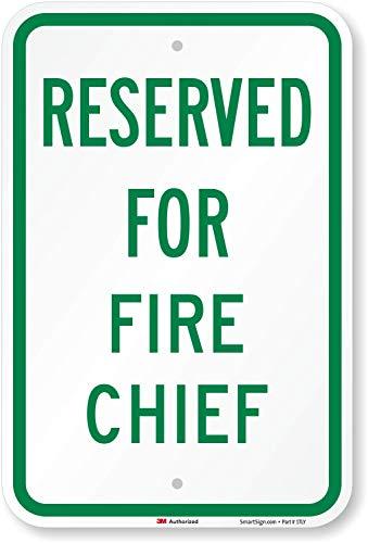 Reserviert für Fire Chief Zeichen, 45,7x 30,5cm