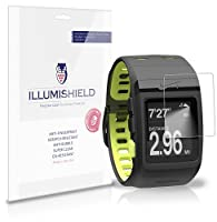 iLLumiShield - Nike+ SportsWatch Crystal Clear Screen Protectors with Anti-Bubble/Anti-Fingerprint - 3-Pack + Lifetime Replacements