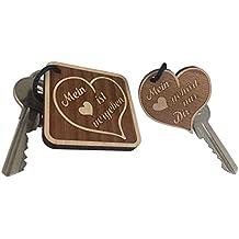 Partner Schlüsselanhänger doppelseitige Gravur aus Holz sehr gute Qualität Partnergeschenk Liebe Paar Anhänger Geschenk vom ORIGINAL endlosschenken