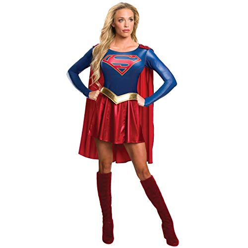 Rubie's offizielles Supergirl-T-Shirt-Kostüm für Damen (TV-Serie), Erwachsenen-Kostüm,