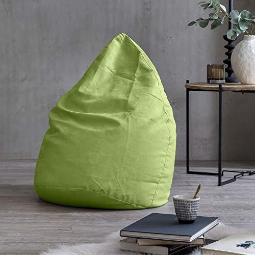 Lumaland Luxury XL Sitzsack stylischer Beanbag 120L Füllung verschiedene Farben Grün – Für alle Altersklassen - 2