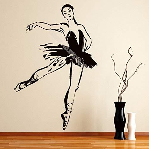 woyaofal Ballett Pose Ballerina Tanz Wandaufkleber Design Wohnkultur Mädchen Schlafzimmer Ballett tanzstudio Wandtattoo Poster 42x63 cm