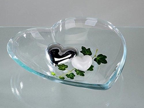 Herzteller 19cm x 21cm Kristallglas