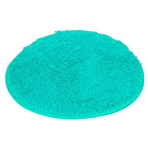 Runde Teppichmatten weiches Bad Schlafzimmer Boden Dusche runder Matte Teppich rutschfester (Blau)