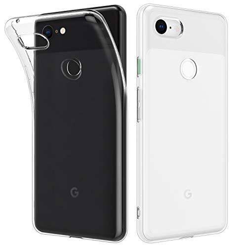 MoKo Google Pixel 3 XL Hülle, [2 Stück] Ultra Dünn Kratzfeste Schutzhülle Soft TPU Silikon Kristall Durchsichtige Phone Case für Google Pixel 3 XL - Transparent + Transparent