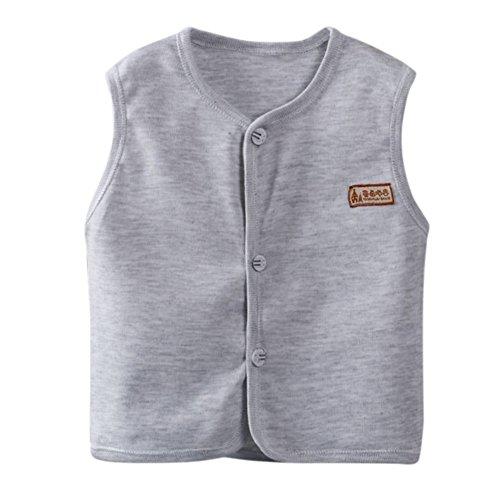 Bornbayb Kinder Weste Ärmelloses Kleid Kinder Top Soft Atmungsaktive Jacke für Jungen Mädchen Baby