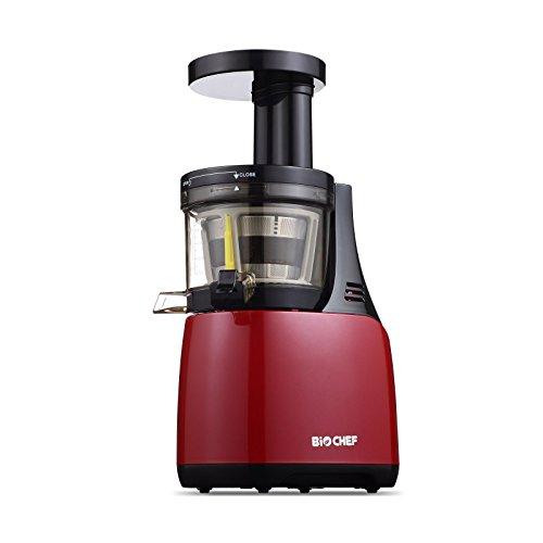 BioChef Synergy Slow Juicer - Licuadora de Prensado en Frío, Extractor de zumos, Tecnología EPT, (Rojo)