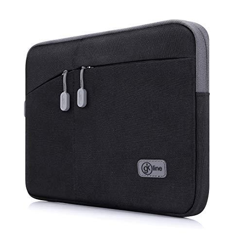 gk line Tasche Nylon Universal Notebook Laptop Netbook Tablet schwarz/grau (9,7-10,2 Zoll, schwarz-grau)