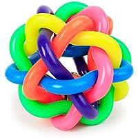 FishBabe - Juego de juguetes para masticar con cascabel para perros pequeños y cachorros de goma