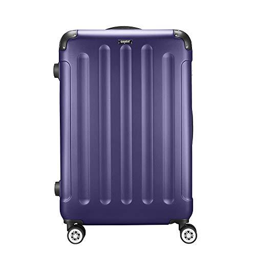 Amasava Valigia rigida, bagaglio grande, borsa da viaggio, 75 cm, 103 litri, lucchetto TSA, 4 ruote multidirezionali,Blu Navy