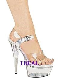 18 centimètres de talons transparents la scène crystal chaussures,transparent