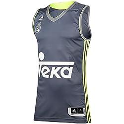 Adidas RM Camiseta Real Madrid de Baloncesto 2ª equipacion 2015-2016, Hombre, Blanco-(Onix/Amasol/Gris), S