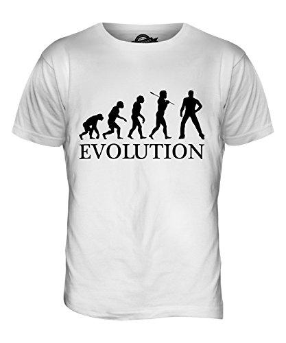 CandyMix Disco Musik Tanz Evolution Des Menschen Herren T Shirt Weiß