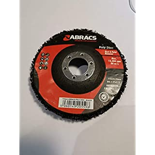 Abracs Black Poly Disc Rust Paint Seam Removal 115Mm X 22Mm Qty 1