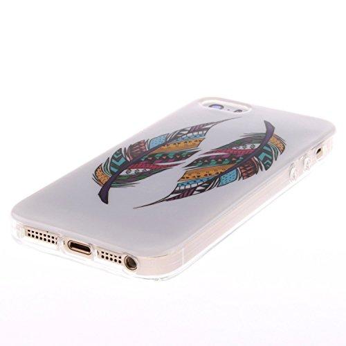 iPhone SE Hülle Silikon,iPhone SE Hülle Transparent,iPhone SE Hülle Glitzer,iPhone 5S Clear TPU Case Hülle Klare Ultradünne Silikon Gel Schutzhülle Durchsichtig Rückschale Etui für iPhone 5,iPhone 5S  Owl 12