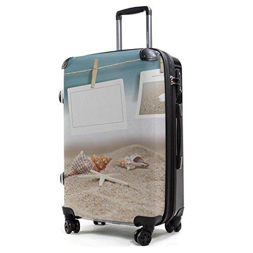 HAUPTSTADTKOFFER® 57 Liter (ca. 65 x 42 x 24 cm) · Reisekoffer · Modell: STYLE · TSA Schloss · verschiedene Cover (Berlin) Beach