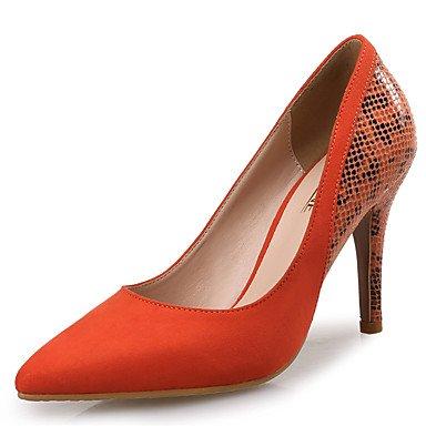 WSX&PLM Da donna-Tacchi-Matrimonio / Formale / Serata e festa-Others / Innovativo-A stiletto-Di pelle / Cashmere-Tessuto almond / Arancione / peach