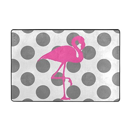 ingbags Flamingo Polka Dot Wohnzimmer Essbereich Teppiche 3x 2Füße Bed Room Teppiche Büro Teppiche Moderner Boden Teppich Teppiche Home Decor, multi, 6 x 4 Feet
