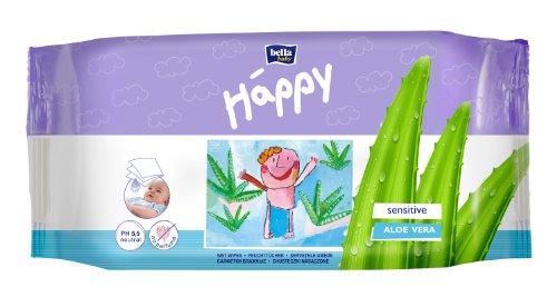 Bella Happy Feuchttücher Sensitive, 16er Pack (16 x 56 Stück)