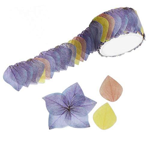 OSAYES 1 Rollos de Flores de pétalos Washi Tape
