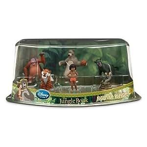 DISNEY LE LIVRE DE LA JUNGLE Figurines JOUER ENSEMBLE Moglie, Baloo, Shere Khan, Kaa, Bagheera