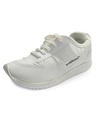 Goldstar Unisex White Running Sport Shoe (Size 10)