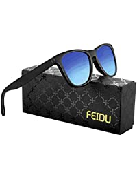 FEIDU Retro Polarisierte Damen Sonnenbrille- Herren Sonnenbrille Outdoor UV400 Brille,Farblinse, Strandreisen unerlässlich für Fahren Angeln Reisen FD 0628