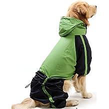 MQZM perro gato Puppy ropa ropa Pet Dress Up - Alimentos para mascotas Chubasquero para Perros Gatos / rojo / verde primavera/otoño XS impermeable / S / M / L / XL / XXL XXXL / / 5XL 4XL / nylon