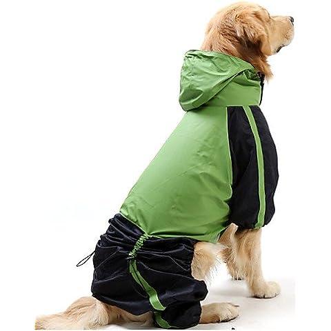 MQZM perro gato Puppy ropa ropa Pet Dress Up - Alimentos para mascotas Chubasquero para Perros Gatos / rojo / verde primavera/otoño XS impermeable / S / M / L / XL / XXL XXXL / / 5XL 4XL / Nylon , verde , verde-s-s