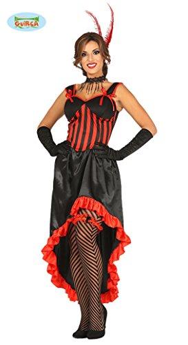 Saloon Tänzerin Karneval Fasching Motto Party Kostüm Damen rot schwarz Gr. M und L, - Rotes Motto Party Kostüm
