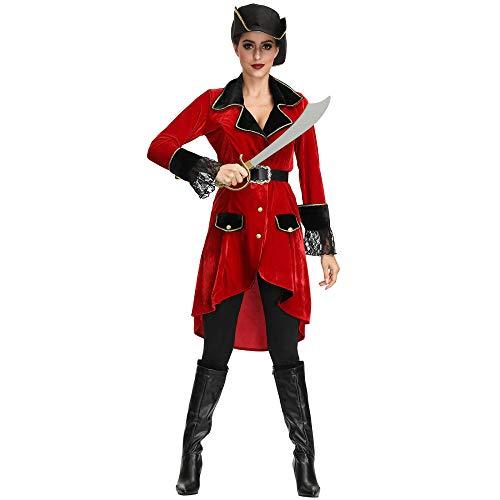 Pirat Kostüm Weiblich - JRKJ Halloween Weibliche Piraten Cosplay Lady Maskerade Kostüm @ M