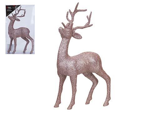 c4c1d75c70e Toyland Adorno de Navidad de pie de Renos de Brillo de Oro 26cm -  Decoraciones únicas